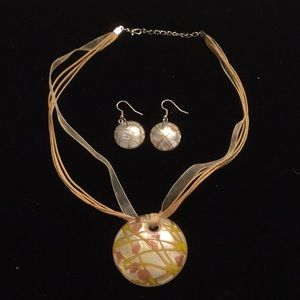 Jewelry - NWOT Glass Pendant Necklace